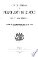 Ley de ingresos y presupuesto de egresos del erario federal