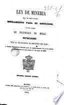 Ley de Minería de 11/IV/1849