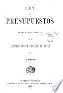 Ley de presupuestos de entradas y gastos ordinario de la administracion publica de Chile