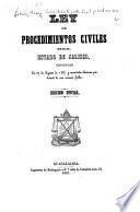 Ley de procedimientos civiles del estado de Jalisco
