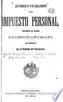 Ley numero 12 su reglamento sobre impuesto personal