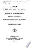 Ley sobre impuesto personal destinado al sostenimiento de la instrucción pública primaria