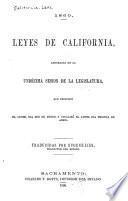 Leyes de California, aprobadas en la undécima sesión de la Legislatura