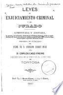 Leyes de enjuiciamiento criminal y del jurado
