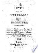 Leyes de la República de Colombia