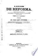 Leyes de reforma: Apéndice sobre administracion de justicia