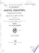 Leyes, decretos, resoluciones, reglamentos y circulares vigentes en el ramo de justicia