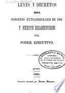 Leyes, decretos y resoluciones