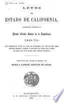 Leyes del estado de California, decretadas durante la décima octava sesión de la Legislatura, 1869-70