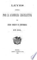 Leyes del Estado de Cundinamarca