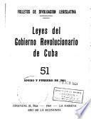 Leyes del Gobierno revolucionario de Cuba