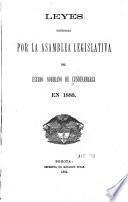 Leyes expedidas por la Asamblea Legislativa de estado soberano de Cundinamarca en 1883
