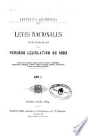 Leyes nacionales sancionadas por el Congreso argentino durante el período legislativo de