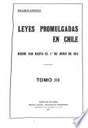 Leyes promulgadas en Chile ...: 1887-1901