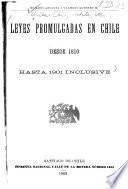 Leyes promulgadas en Chile desde 1810 hasta 1901 inclusive: 1811-1861