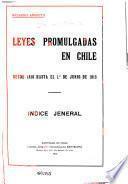 Leyes promulgadas en Chile desde 1810 hasta el 1. ̊de junio de 1912: 1810-1854