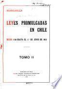 Leyes promulgadas en Chile desde 1810 hasta el 1. ̊de junio de 1912: 1855-1886