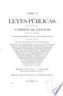 Leyes públicas aprobadas por la Legislatura Filipina