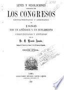 Leyes y resoluciones de los Congresos ordinario y extraordinario