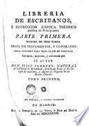 Libreria de escribanos é instrucción jurídica theórico práctica de principiantes, 1