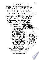 Libro de algebra en arithmetica y geometria
