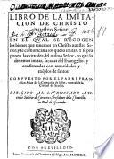 Libro de la Imitacion de Christo nuestro Señor, etc