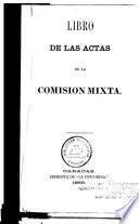 Libro de las actas de la Comision mixta