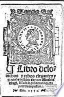 Libro de los dichos y echos elegantes y graciosos del sabio rey don Alonso de Aragó