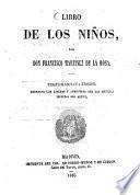 Libro de los niños, por Franc. Martinez de La Rosa