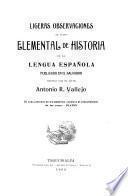 Ligeras observaciones al Curso elemental de historia de la lengua española publicado en el Salvador