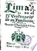 Lima en el IV centenario de su fundación