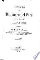 Limites de Bolivia con el Perú por la parte de Caupolican