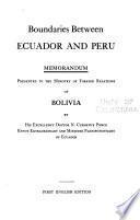 Límites entre el Ecuador y el Perú