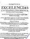 Limosna, excelencias, calidades, prerrogativas, y frutos suyos (etc.)