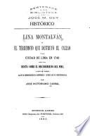Lina Montalván; o, El terremoto que destruyó El Callao y la ciudad de lima en 1746