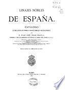 Linajes nobles de España