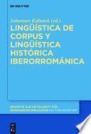 Lingüística de corpus y lingüística histórica iberorrománica