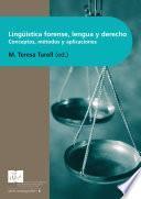 Lingüística Forense, Lengua y Derecho
