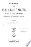Lista oficial de los buques de guerra y mercantes de la marina espanola
