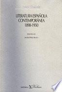 Literatura española contemporánea (1898-1950)