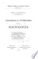 Literatura y problemas de la sociología