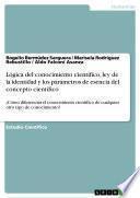 Lógica del conocimiento científico, ley de la identidad y los parámetros de esencia del concepto científico