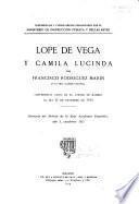 Lope de Vega y Camila Lucinda