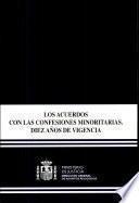 Los acuerdos con las confesiones minoritarias