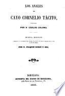 Los Anales de Cayo Cornelio Tácito