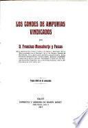 Los condes de Ampurias vindicados