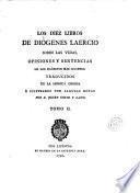 Los Diez libros de Diógenes Laercio sobre las vidas, opiniones y sentencias de los filósofos más ilustres, 2