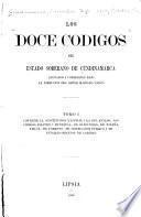 Los doce codigos del Estado soberano de Cundinamarca