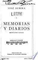 Los españoles en la guerre de 1914-1918: Memorias y diarios