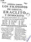 Los filosofos de Grecia, Eraclito y Democrito